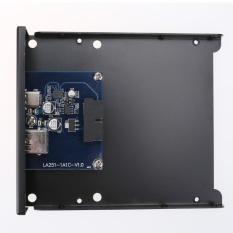 PC Front Floppy Motherboard 20Pin to USB3.0 AF Type-C Port Extension Panel (Black) - intl