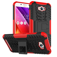 Rugged Kickstand Armor Iron Man PC TPU Back Covers for Lenovo A6000 Gold .