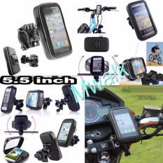 Phone Holder Waterproof Bag Untuk Motor Dan Sepeda 5.5 inch - Hitam