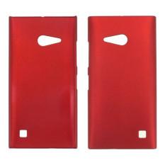 Plastik penutup belakang buram keras kulit kasus untuk Nokia Lumia 730 735 (Merah)
