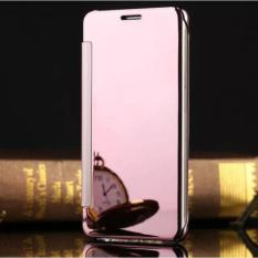Plating PC Mirror Flip Clear View Case Cover with Dormance for Samsung Galaxy .