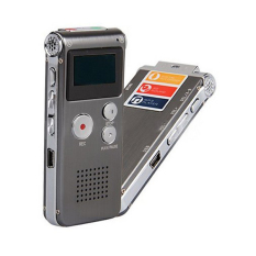 Portable 2-in-1 4GB LCD Digital Voice Recorder & MP3 Player With Speaker External MIC 3.5mm Audio Port (Intl)