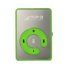 Portable Mini Clip MP3 Player Support 8GB with USB Cable Earphone Green