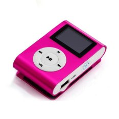 Portable MP3 LCD Screen Metal Mini Clip MP3 Player With Micro TF / SD Card Slot Sport MP3 Music Players Walkman (Pink)