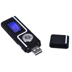 Portable USB MP3 Music Player LCD Screen Support 16GB TF Card Black Free Shipping