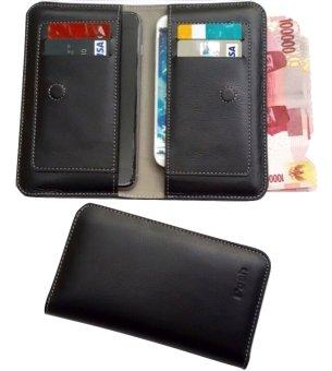 POSH Untuk Samsung Galaxy S7 Edge Wallet Case - Hitam