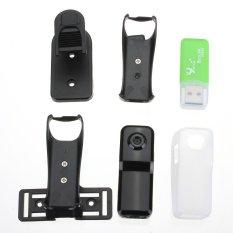 Praktis Mini Wifi Web Kamera IP Nirkabel MD81S Kartu Yang Dapat Dilepas Hitam