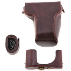 Protective Detachable Coffee PU Leather Case Bag For Fuji XM1 Digital Camera (Intl)