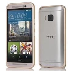 Protective Frame Aluminum Bumper Case for HTC One M9 (Gold)