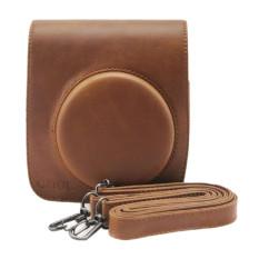 PU Leather Brown Camera Case Bag Holder For Fuji FUJIFILM Instax Mini90 (Brown)