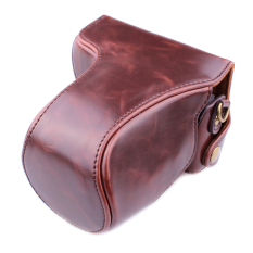 PU Leather Camera Case Bag Cover With Shoulder Strap For CanonEOS-M / EOS-M2 Coffee (Camera Not Included)