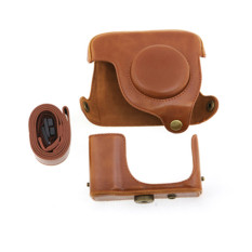 PU Leather Case Bag For Canon G16 Protective Detachable Digital Camera Brown (Intl)