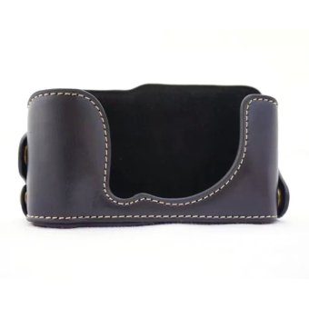 PU Leather Half Camera Case Bag Cover With Hollow Design For Fujifilm XM1 / XA1 / XA2 / XA3 Black (Camera Not Included)