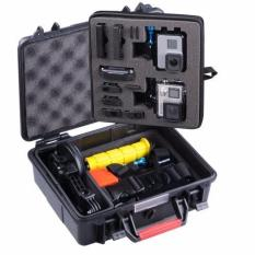 """Q-Rated Smatree SmaCase GA500 Wadah Bawaan Ringan Dan Kedap Air Dengan Material ABS Ukuran Medium Untuk GoPro Hero 5/4 / 3 + / 3/2 / 1 Dan Aksesoris Hitam Dan Merah (11.02"""" X 9.68"""" X 4.17"""") (TIDAK Termasuk Kamera Dan Aksesoris)"""