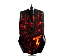 Q7 Black Backlit Gaming Mouse Wired USB 3200 DPI Mouse 8 Keys 8button Mouse with Lamp For LOL Esports CF-Specific Game (Intl)
