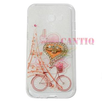 QCF Softcase Flower Samsung Galaxy J2 Prime Case Femininity &Shine Swarovsky Holder Ring Softshell / Jellycase / Silicone Case /Softcase Samsung - Holder Love + Bicycle Girls