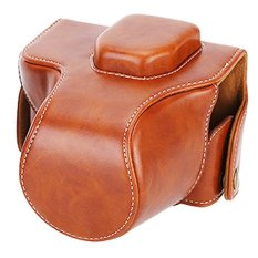 Rajawali Leather Case For Olympus OM-D EM-10 Mark 1 Dan 2 Kit 14-42mm - Cokelat