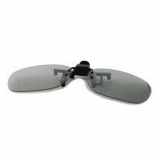 Reedoon Clip-On Circularly Polarized 3D Non-Flash Glasses Myopia Special (Black / Grey)