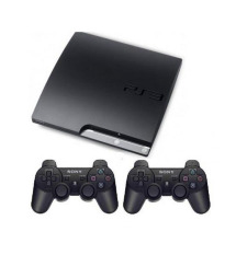 Refurbished Playstation 3 Slim Hdd 250gb Full Game + 2 Stik Wireless