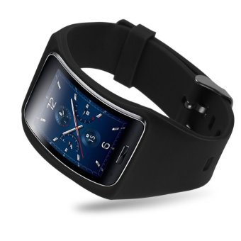 Replacement Band Bangle Bracelet Wristband For Samsung Galaxy Gear S SM-R75 Black