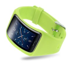 Replacement Band Bangle Bracelet Wristband For Samsung Galaxy Gear S SM-R75 (Green)