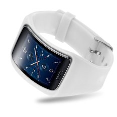 Replacement Band Bangle Bracelet Wristband For Samsung Galaxy Gear S SM-R75 White