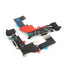 Replacement Charger Port Dock Connector Flex Cable USB Port Charging Port For IPhone 5S (Black) (Intl)