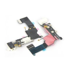 Replacement Charger Port Dock Connector Flex Cable USB Port Charging Port For IPhone 5S (White) (Intl)
