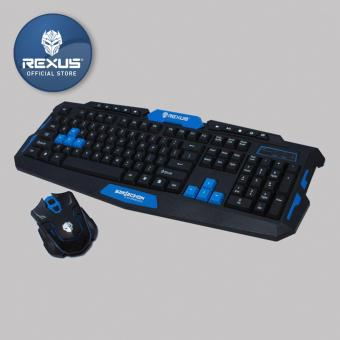 Rexus Keyboard Mouse Wireless Gaming Warfaction VR2 Combo