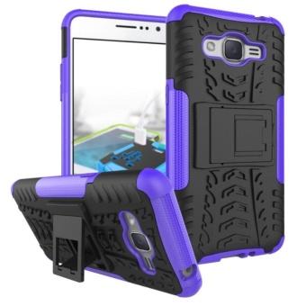 Rugged Heavy Duty Hard Back Case Cover for Samsung Galaxy GrandPrime+ (2016) / Galaxy