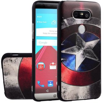 RUILEAN Soft TPU Case For LG G5 Captain 3D Embossed Painting SeriesProtective Cover