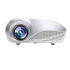 Rumah Sinema Multimedia Proyektor Mini HD Memimpin 1080P Dukungan AV TV USB VGA HDMI SD Putih