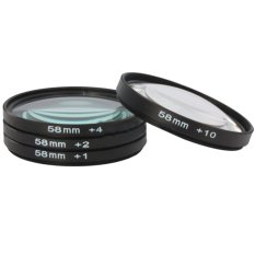 S & F 58mm Close Up Macro + 1 + 2 + 4 + 10 SLR Lens Filter Set For Sony Canon Nikon (Black / Clear)