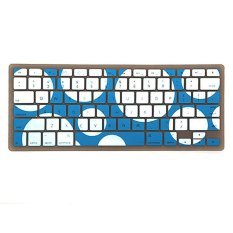S & F Circle Dotted Silicone Keyboard Cover Skin For Macbook Pro (Blue) - Intl