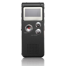 S & F Rechargeable 8GB Digital Voice Recorder Audio Dictaphone MP3 Player (Black)