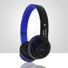 S480 Wireless Bluetooth Headphone Foldable 3D Surround (Blue)