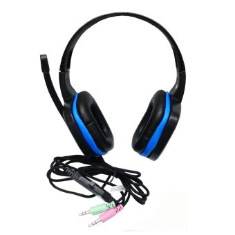 Sades Chopper SA-711 Headset Gaming - Biru Hitam With Microphone