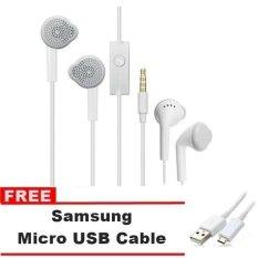 Samsung Galaxy Handsfree / Headset C550 For All Samsung Galaxy - Putih + Gratis Samsung Micro USB Data Cable - Putih
