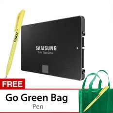 Samsung SSD 850 EVO 500GB 2.5-Inch SATA3 Powered By 3D V-NAND Technology - Gratis Go Green Bag + Pen