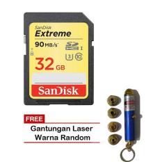 Sandisk Extreme SDHC UHS-I 32GB / 90MB/s + Gantungan Laser