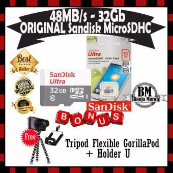 Sandisk Memory Card Ultra Micro SDHC class 10 48MB/s 32GB - Gratis Flexible Tripod