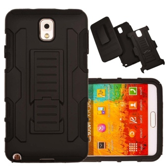 Shockproof Heavy Duty Protection Hybrid Full Body Rugged Case Rubber Dual Layer Holster Cover for Samsung Galaxy Note 3 N9000 with Kickstand - intl