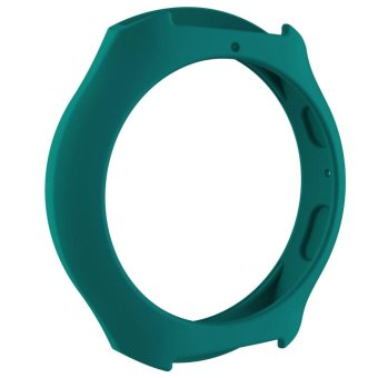 Silicone Protect Case Frame Cover for Samsung Galaxy GearS2/SM-R720/SM-R73(Deep green) - intl