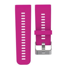Silicone Watch Strap for Garmin Vivoactive HR(Rose Red) - intl