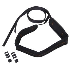 Single Shoulder Damping Strap Skidproof Camera Cushion Belt Strap For Cannon Nikon Sony Samsung DSLR SLR Cameras (Black)