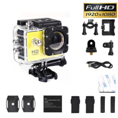 SJ4000 1080P Sports Full DV Action Waterproof Camera Camcorder (Yellow)