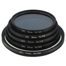 Slim CPL Circular Polarizing Polarizer Lens Filter For Canon Nikon Camera Black 77MM