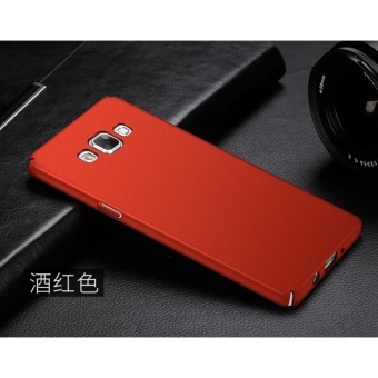 Slim Fit Shell Hard Full Protective Anti-Scratch Resistant Cover Case for Samsung Galaxy A5/A5 2015(Red) - intl