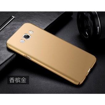Slim Fit Shell Hard Full Protective Anti-Scratch Resistant Cover Case for Samsung Galaxy A8/A8000(Gold) - intl