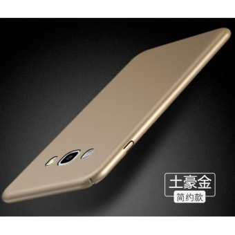 Slim Fit Shell Hard Full Protective Anti-Scratch Resistant Cover Case for Samsung Galaxy J5 2015(Gold) - intl